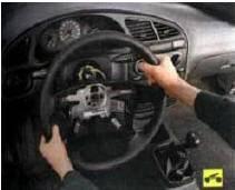 7.... и снимите рулевое колесо.
